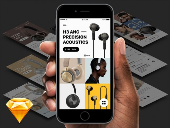 App concept for Bang & Olufsen store