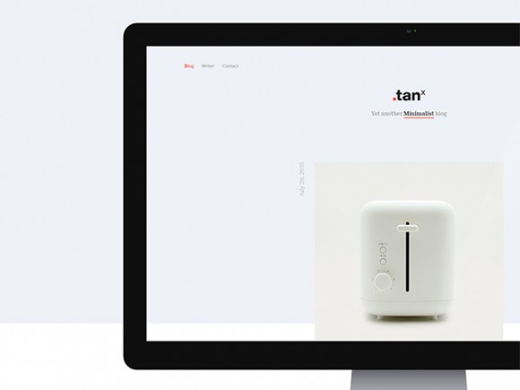 TANx: A free minimal WordPress theme