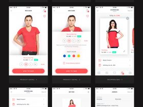 UI kit for ecommerce mobile app