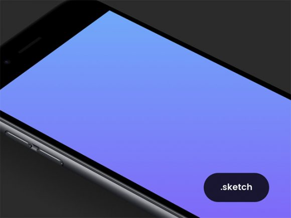 Single black iPhone mockup