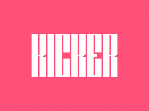 Kicker: A free ultra condensed typeface