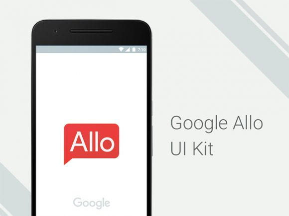 Google Allo: Free UI kit for Photoshop