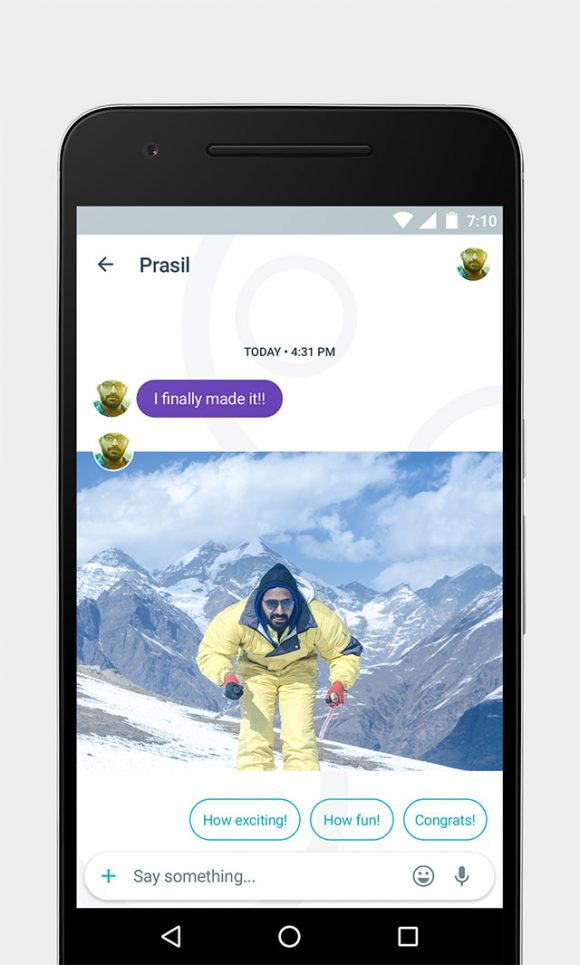 Google Allo free UI kit Preview 02