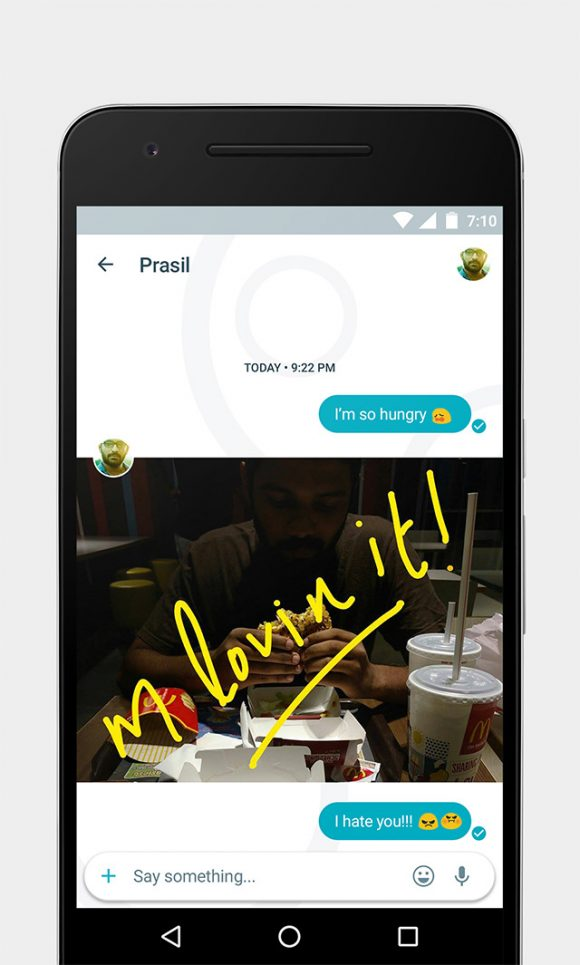 Google Allo free UI kit Preview 03