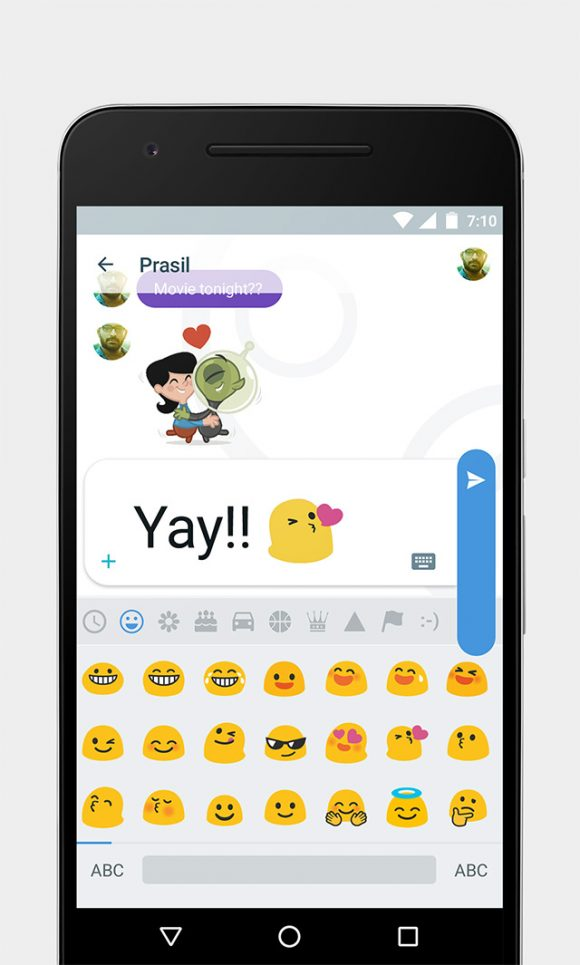 Google Allo free UI kit Preview 04