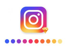 Instagram logo in Sketch format