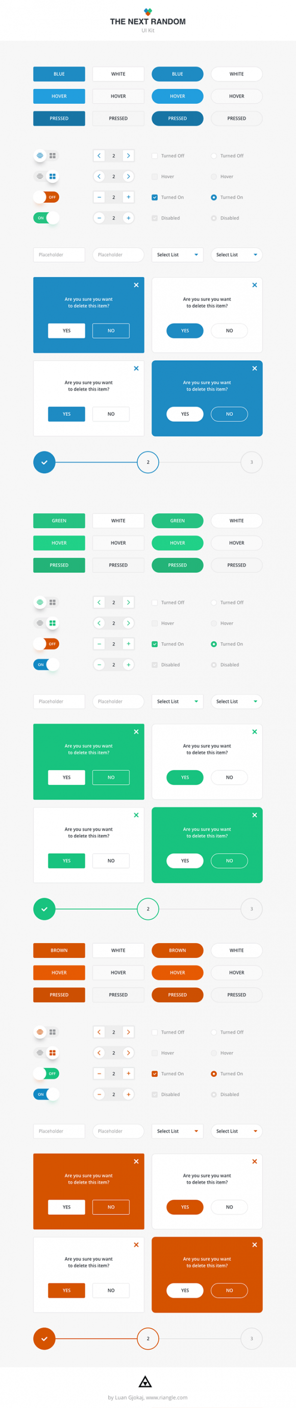 The Next Random UI kit - Preview