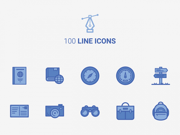 100 Free vector line icons