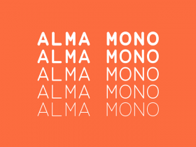 Alma Mono: Free typeface in 5 weights