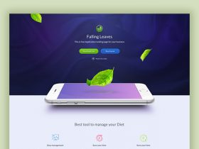 One Page landing template for mobile apps