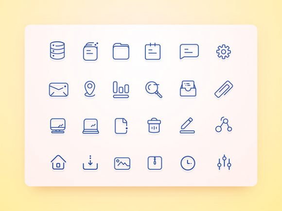 24 Unique user interface icons