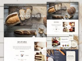 Bakery PSD website template