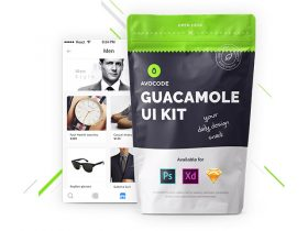 Guacamole: Free UI kit for Photoshop, Xd & Sketch