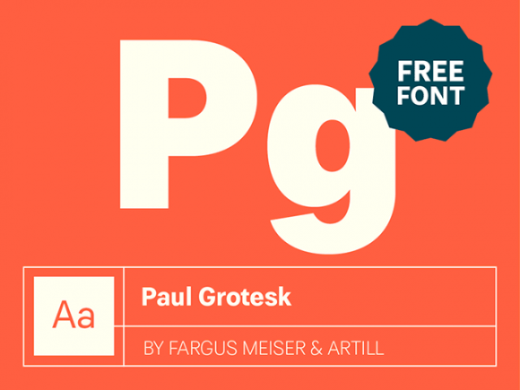 Paul Grotesk: Free Modernist font-family