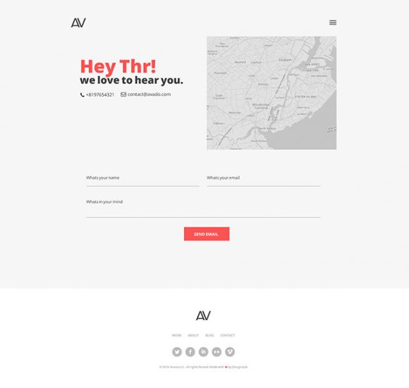 Contact - Page preview