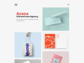 avana minimal portfolio template for agencies