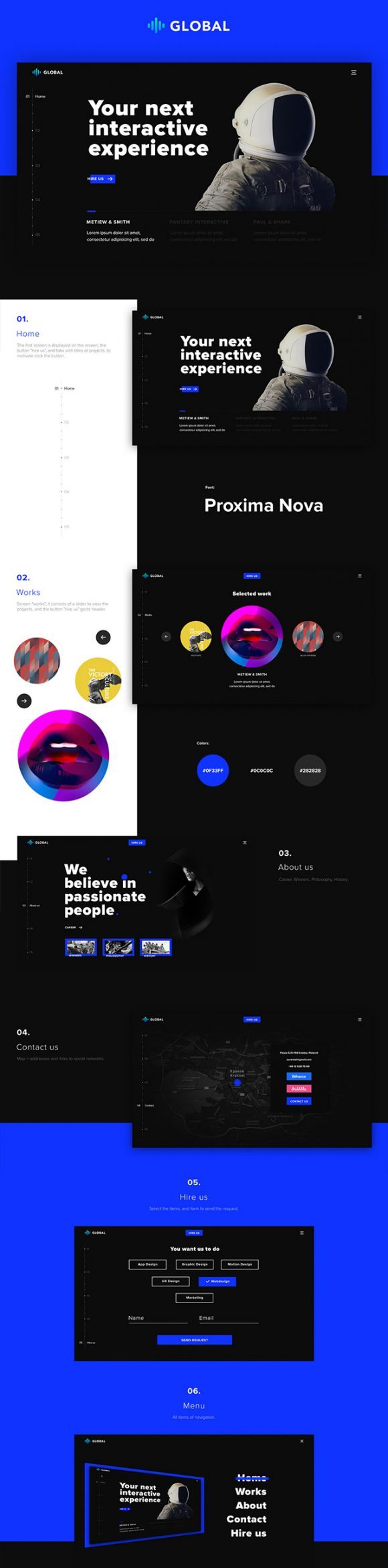 Global HTML and PSD template- Full preview