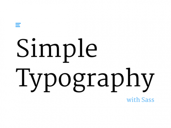 Simple Typography: Sass boilerplate for beautiful typography