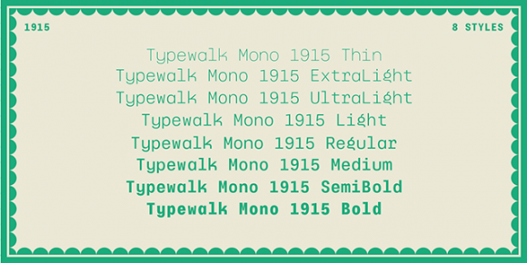 Typewalk Mono 1915 - Preview 04