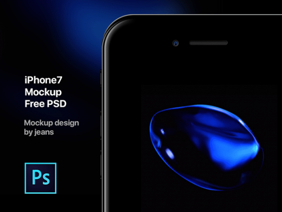 iPhone 7 PSD mockup by jeans