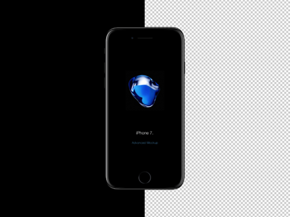 iPhone 7 PSD mockup by Wassim