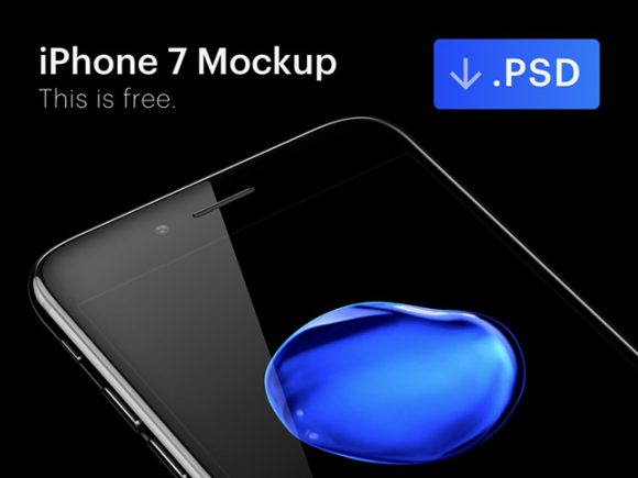iPhone 7 Jet Black PSD mockup by Ramotion