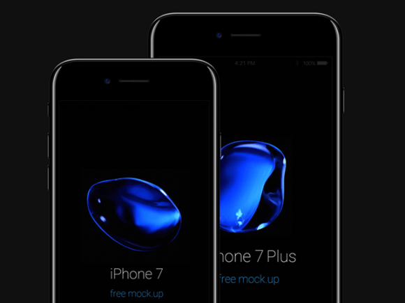 iPhone 7 PSD Jet Black by Pixeden