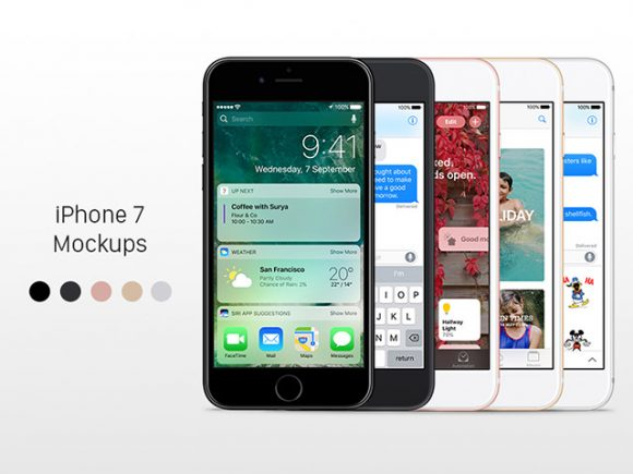 5 free iPhone 7 mockups for Sketch