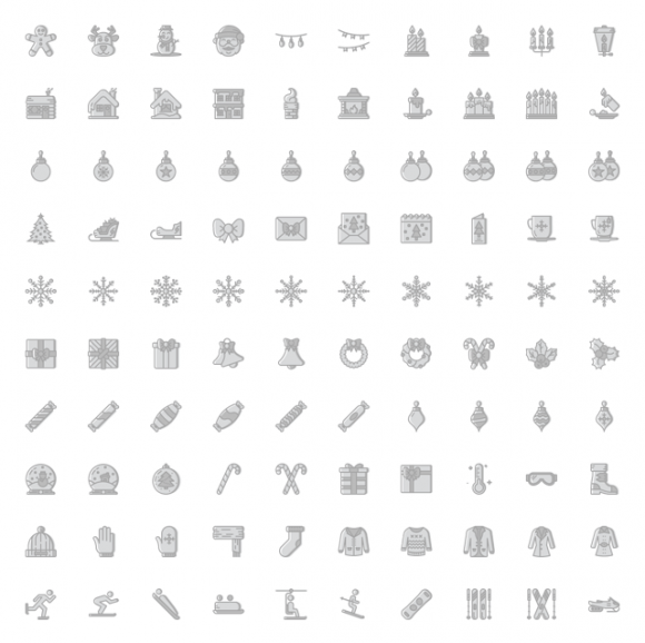 Smashicons Christmas icons - Full preview