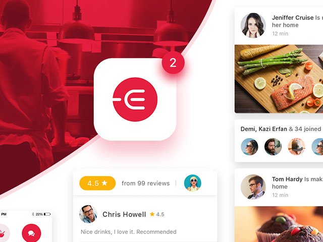 Edacious free food ui kit for web apps freebiesbug