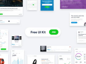 Basic widget-style UI kit for websites