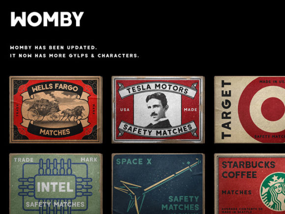 Womby: Free display font for graphics and web
