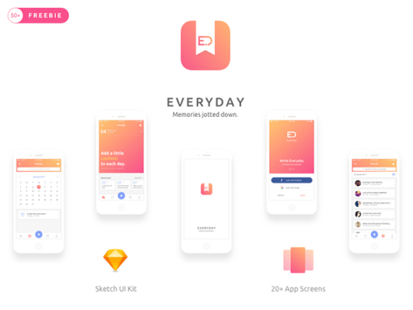 Everyday: iOS note taking app concept
