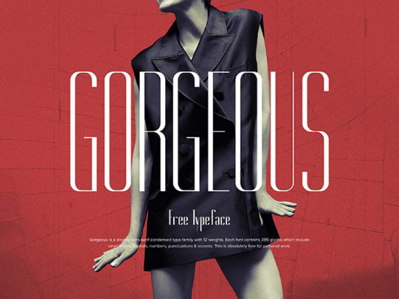 Gorgeous: A free elegant typeface in 12 weights