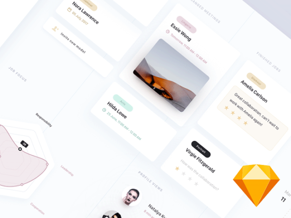 Free modern dashboard interface for inspiration