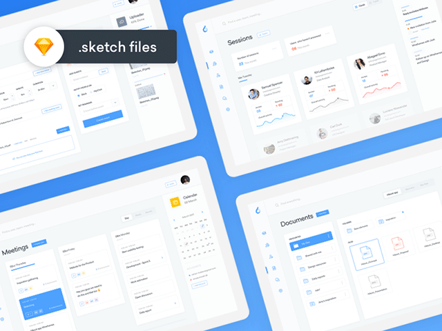 ooto: A free dashboard template for Sketch