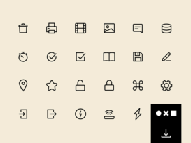 UI 100: A free set of SVG essential icons