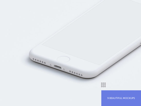 Preview image of 9 Free PSD Hi-Res iPhone mockups - 03