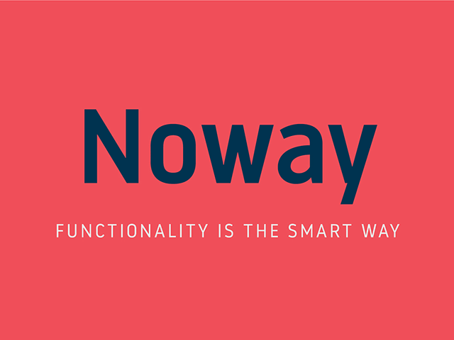 Noway: A set of 2 free font weights