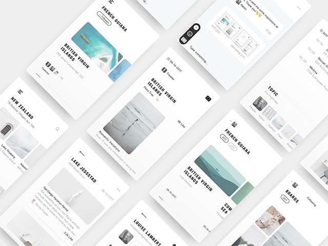 Dairy: A free Sketch UI kit for minimal apps