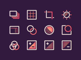 Free set of 12 photo icons for Sketch