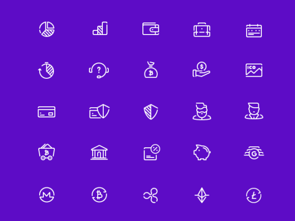 A free set of 48 free fintech vector icons