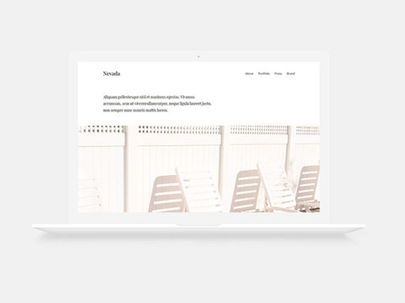 Nevada: Minimal one-page HTML template