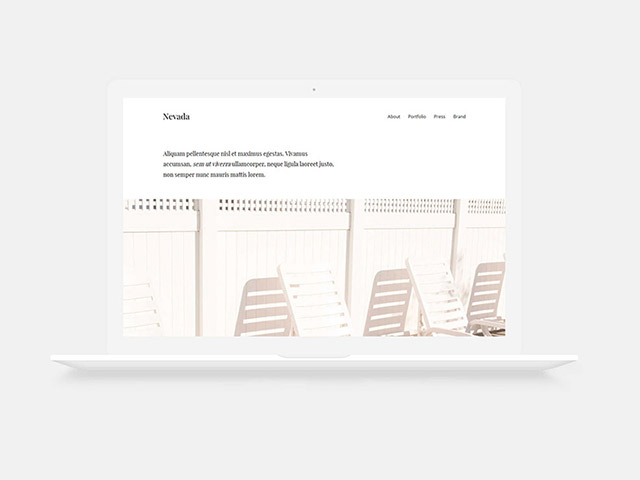Nevada Minimal one-page HTML template