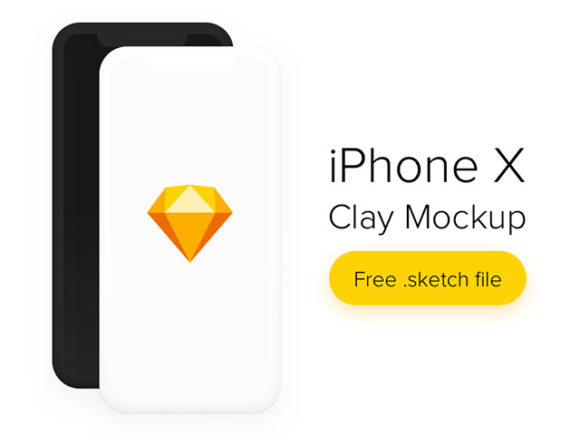 iPhone X Clay Mockup Freebie Sketch