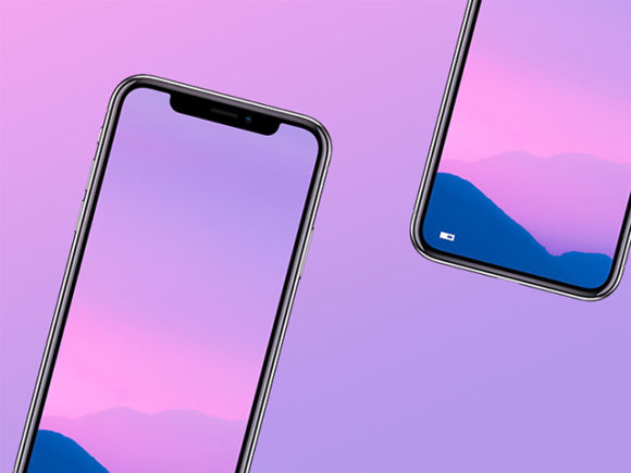 Glossy and simple iPhone X mockups (PSD)