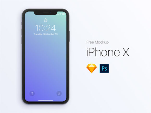 iPhone X Mockup - PSD + Sketch