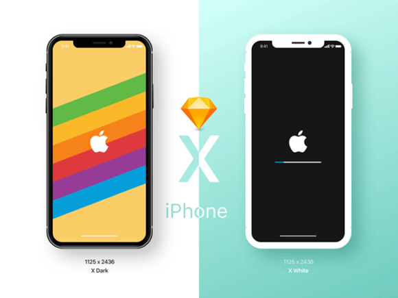iPhone X: Early free mockups