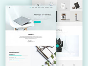 Free psd website design templates freebiesbug piroll a design template for agencypersonal portfolio maxwellsz