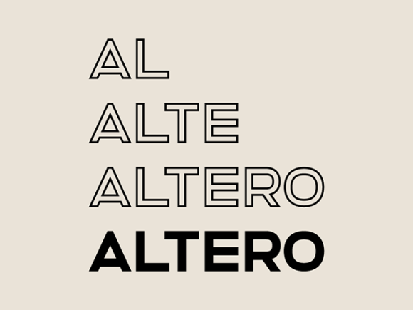 Altero font - Preview image